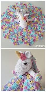 mantinha amigurumi de unicornio