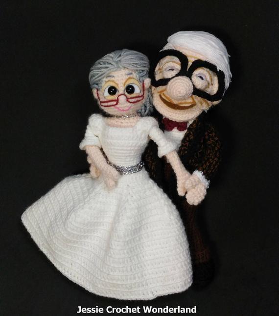 Carl and Ellie amigurumi