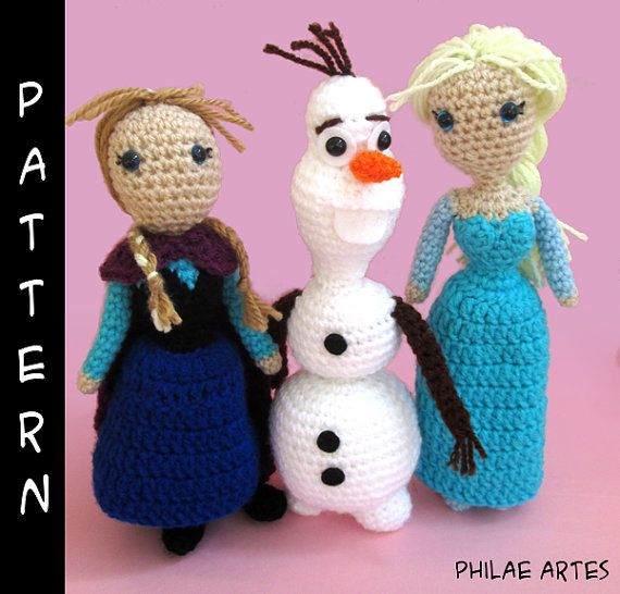 Frozen amigurumi: Anna, Elsa and the freezing adventure, ideas, how-to and videos